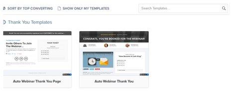 Webinar Thankyou templates