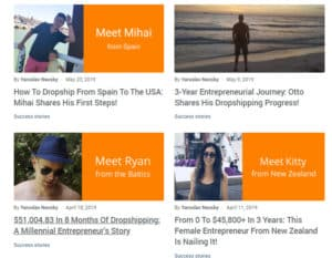 AliDropship Success stories